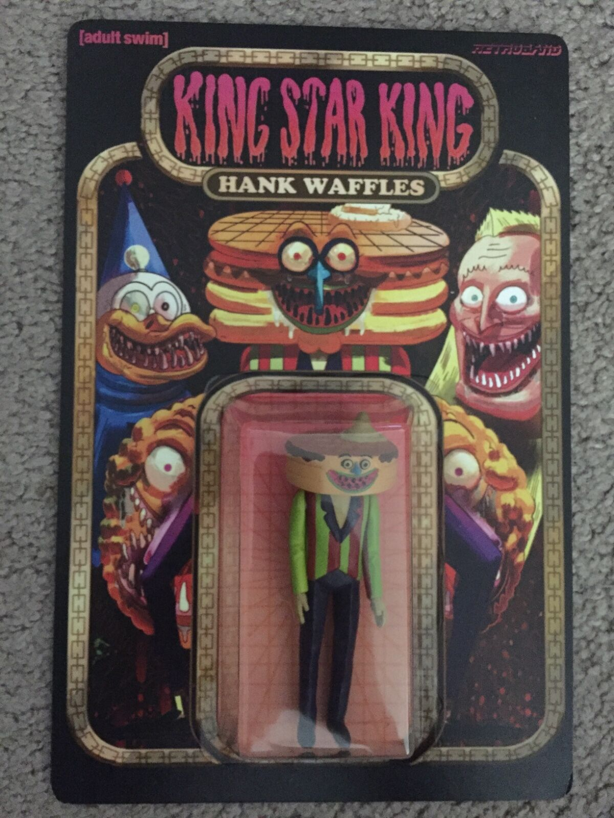 Retroband KING STAR KING Hank Waffles Figure RARE Adult Swim DCON