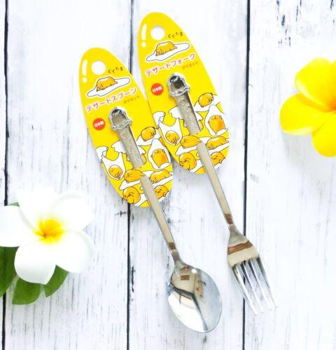 Sanrio Gudetama Stainless Steel Tableware Cute Fork and Spoon From Japan
