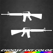 2 AR15 M16 M4 .556 Gun NRA Sticker Decal Military 2A Truck Car Window Graphics