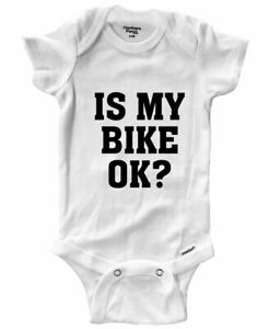 Baby Infant Bodysuit Outfit Gift Print Is My Bike Ok? Funny Cycling