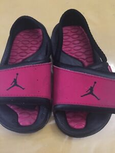 reputable site a7403 e3ad1 Details about Nike Air Jordan Hydro 2 (Toddler Size 6C) Strap On Water  Sandal Pink And Black
