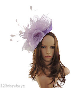 Lilac Fascinator Hat for Weddings Ascot Derby With Headband   SAMPLE ... 22c73a1ea66