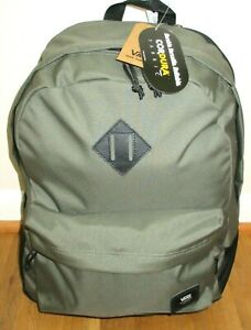 Vans Old Skool Plus Backpack Travel Bag Olive Green Black Unisex Free Ship NWT