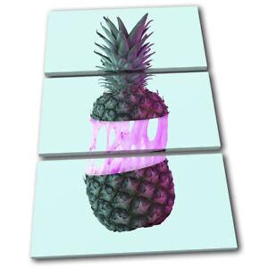 Pineapple-Bubble-Gum-Neon-Food-Kitchen-TREBLE-CANVAS-WALL-ART-Picture-Print