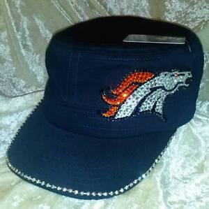 Details about Denver Broncos Women s Ladies Navy Cadet Rhinestone Bling NFL Cap  Hat ~NEW~ 6724902fdae