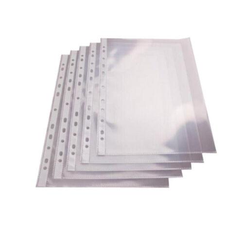 NEU oben offen glasklar 100 DIN A4 Prospekthüllen Klarsichthüllen 80my glatt