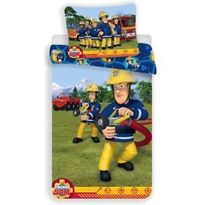 Fireman-Sam-Eteindre-Set-Housse-de-Couette-Simple-Europeen-Coton-Enfants-2-IN-1