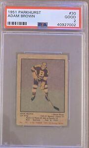 1951-1952-PARKHURST-Adam-Brown-PSA-2-Good-GD-30-HOCKEY-Boston-Bruins