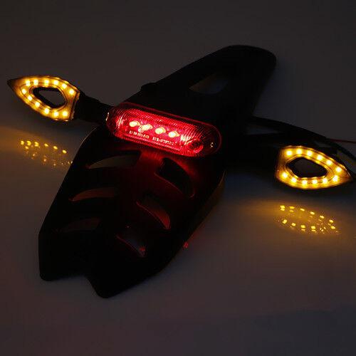 Universal LED Enduro Fender Bremsrücklicht Blinker für Honda Yamaha Suzuki