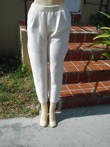 Sportwear color Pantalone crema Santana in Sz alta vita Santana maglia 4 a 0WxwgYfwqF