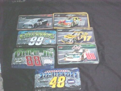 NASCAR  RACING  METAL LICENSE PLATE   NEW SEALED IN PLASTIC   ON SALE