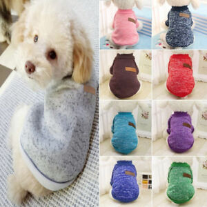 1a75f49ec915 Small Pet Dog Winter Jacket Clothes Puppy Cat Knit Sweater Jumpers ...