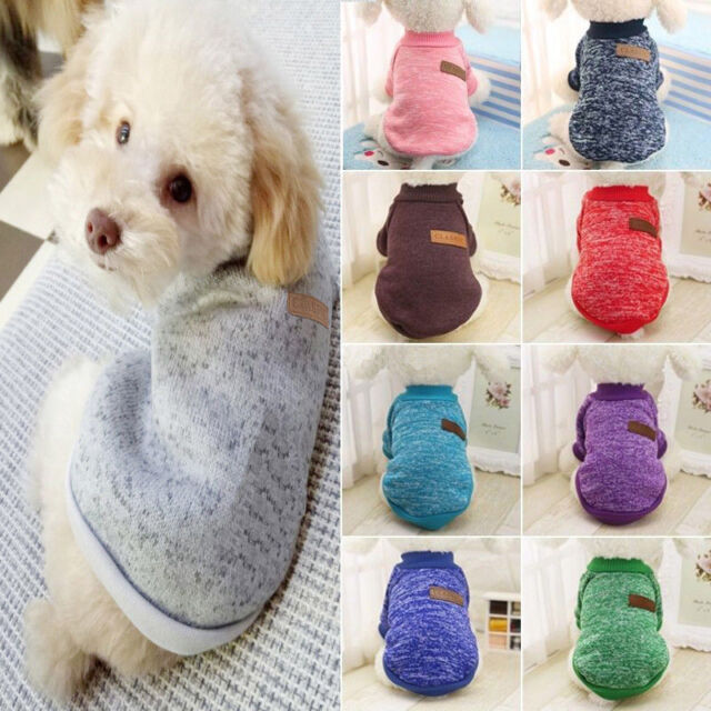 Puppy Clothes for Small Dog Pet Sweater Chihuahua Coats Jacket Knitted Warm Vest