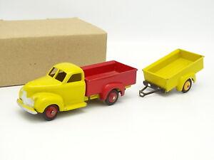 Dinky-Toys-France-1-43-Studebaker-Bache-Jaune-et-Rouge-avec-Remorque