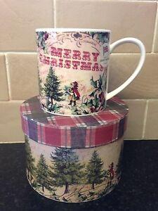 Beautiful-Marks-And-Spencer-Boxed-Vintage-Style-Christmas-Mug