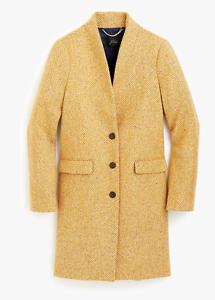 NWT J.Crew Sz 6 Oversized Topcoat English Herringbone Wool Coat Camel J5939