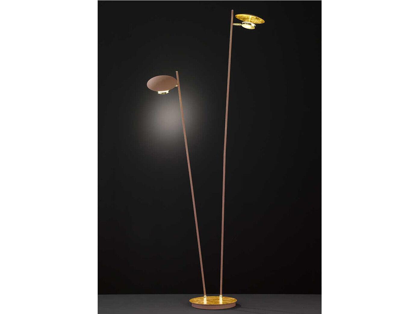 Dimmbare LED Stehleuchte Stehleuchte Stehleuchte Gold   Braun schwenkbar Höhe 150cm 9W - Wohnraumleuchte   Ausgezeichneter Wert     43f6b7