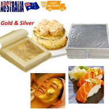 Foil Leaf 99.99%Pure 24K Food Cake Decor Edible Face Beauty Gold/Silver AU Stock