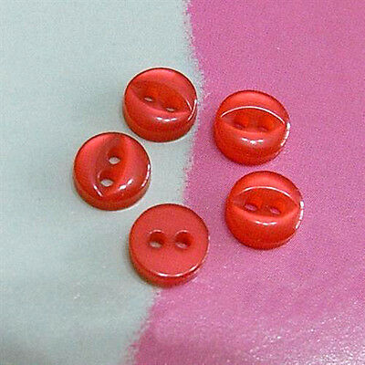 30 Rare! Very Small Mini Doll Clothing Fish Eye Sewing Buttons 6mm Red S161