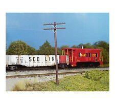RIX (HO-Scale) #628-0032  Railroad Telephone Poles w/2 Crossarms (Pkg-18) - NIB