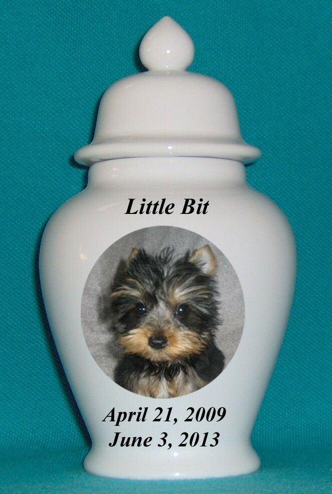 5  Photo Picture Pet Dog Cat Cremation Memorial Urn Personalized