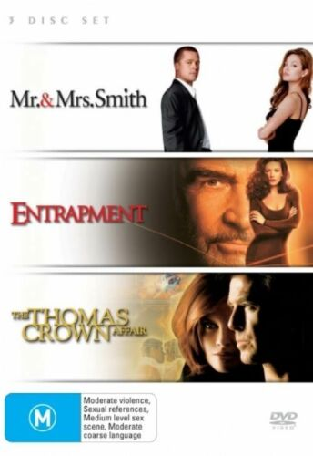 1 of 1 - Mr & Mrs Smith / Entrapment / Thomas Crown Affair - (3-Disc Set) - NEW DVD