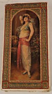 1920s Vintage Orientalist Antique Candy Box Harem Girl Ornate Colorful
