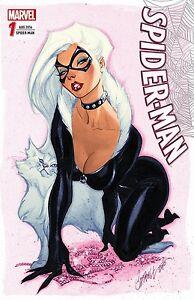 SPIDER-MAN (2016) #1 deutsch VARIANT-COVER lim.333 Ex. Black Cat  SCOTT CAMPBELL