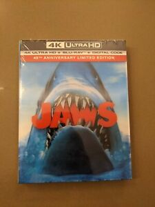 Jaws (4K Ultra HD + Blu-Ray + Digital + Collector Booklet, 3D slipcover) – new!