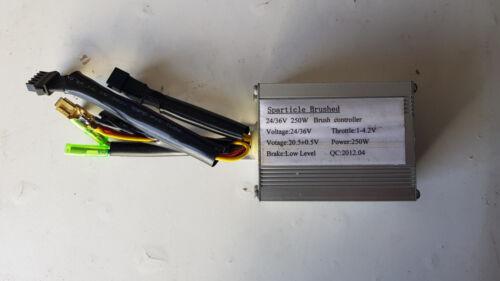 Sparticle brushed motor controller electric bike ebike 24V//36V 250W