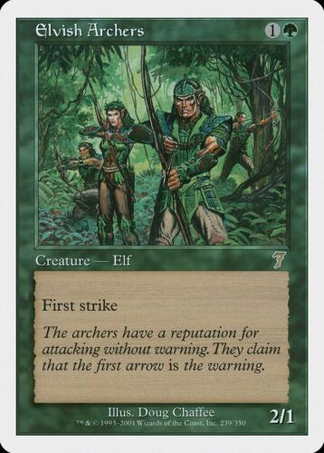 Elvish Archers 7th Edition PLD Green Rare MAGIC THE GATHERING CARD ABUGames