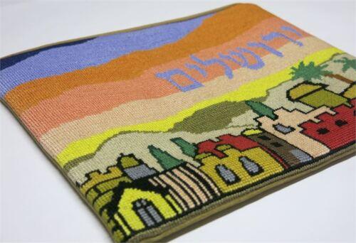 Jewish//Judaica//Tallit Bag Tallit Jerusalem Sky Needlepoint Kit or Canvas
