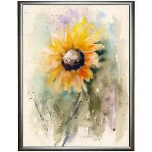 SUNFLOWER-PAINTING-Signed-Limited-Edition-PRINT-of-Watercolour-by-Diane-Antone