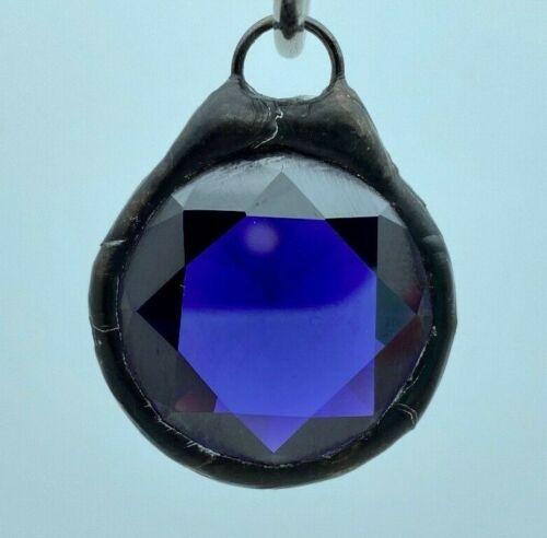 SGP37 Vintage Hand Soldered Leaded Glass Pendant