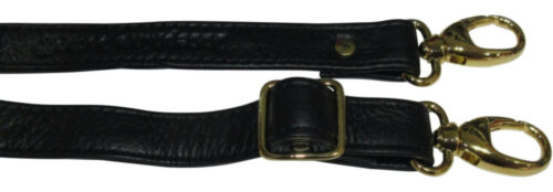 Schwarz//GOLD 2 cm LEDER Schulterriemen Riemen Trageriemen Griff Schultergurt