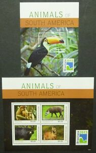 CréAtif Antigua 2013 Animaux Toucan Singe Ours Loup Tapir Bear Wulf 5124-217 + Bl.717 ** Neuf Sans Charnière Apparence Attractive