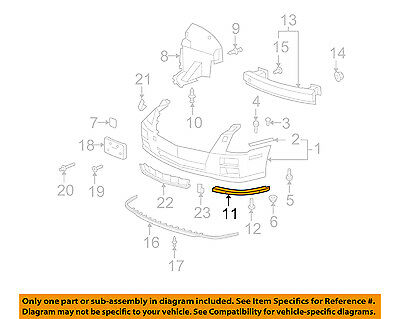 Cadillac GM OEM 08-11 STS Front Bumper-Lower Support Right 25786156