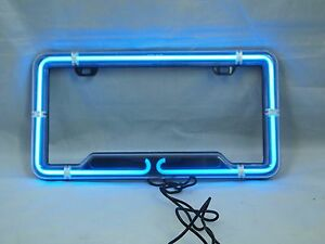 Perfect Image Is Loading CHEVROLET Clear License Plate Frame Universal Neon Light