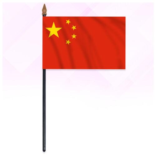 China Small Hand Waving Flag Patriotic Country Handheld Flag Table Desk Display