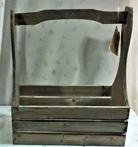 Nwt Robert Stanley Farmhouse Wooden Tool Box Or Planter 14 12 T X