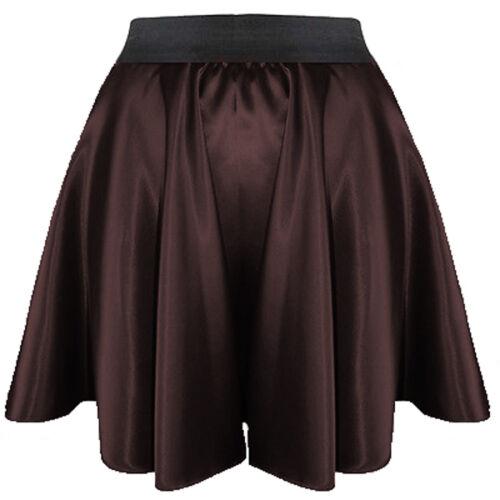 a colori ragazza vita corto gonna elastica 27 Hot donna abito pieghe retrò Mini raso wqO1HZx0f