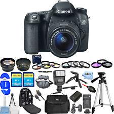 Canon EOS 70D DSLR Camera with 18-55mm f/3.5-5.6 STM Lens!! MEGA BUNDLE NEW!!