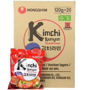 Nongshim Kimchi Ramyun Nouilles Ramen Halal (boîte De 20 Paquets) Made In Korea-afficher Le Titre D'origine Peut êTre à Plusieurs Reprises Replié.