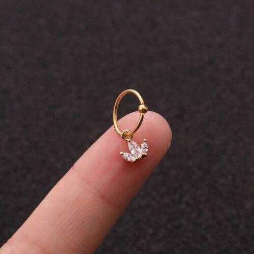 Acier Inoxydable Zircon oreille Os Clou Piercing Oreille Boucles D/'oreilles Body Piercing Jewelry