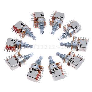 10pcs Electric Guitar Tone Potentiometer B250k Push Pull Switch W ...