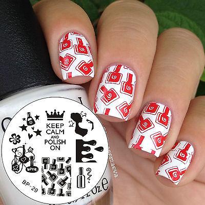 Nail Art Stamp Template Image Stamping Plates Manicure DIY BP29