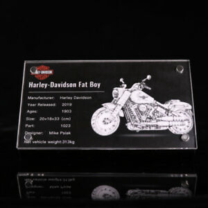 Display-plaque-for-LEGO-Harley-Davidson-Fat-Boy-10269-AUS-Top-Rated-Seller