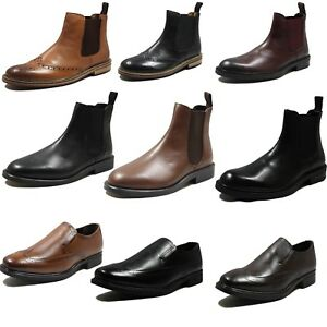 New Mens Real Leather Ankle Chelsea
