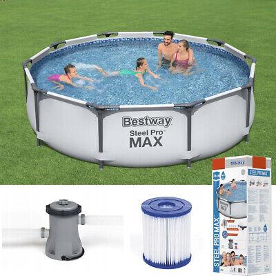 Premium Filter pump 12ft Intex swimming pool 12ft metal frame 366cm x 76 w