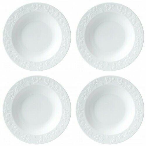 Wedgwood Wild Strawberry blanc Rim Soup Bowl 9  4 jante bols à soupe NEUF avec étiquette